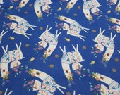 Flannel Fabric - Llama Party - By the yard - 100% Cotton Flannel