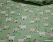 Flannel Fabric - Goats - By the yard - 100% Cotton Flannel