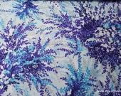 Flannel Fabric - Purple Floral on Light Blue Luxe - By the yard - 70% Rayon, 30 Cotton