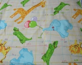 Flannel Fabric - Animals and Balloons Party - By the yard - 100% Cotton Flannel