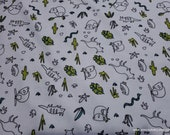 Flannel Fabric - Desert Animals Sketched - By the yard - 100% Cotton Flannel