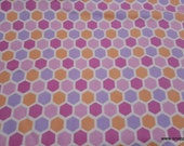 Premium Flannel Fabric - Peek a Boo Hexagons Premium - By the yard - 100% Cotton Flannel