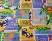 Flannel Fabric - Bright Jungle Patch - By the yard - 100% Cotton Flannel