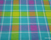 Flannel Fabric - Brights Bruno Plaid - By the yard - 100% Cotton Flannel