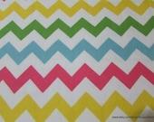 Flannel Fabric - Medium Chevron Girl - By the yard - 100% Cotton Flannel