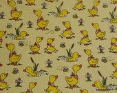 Flannel Fabric - Puddle Pals Duck Pond - By the yard - 100% Cotton Flannel