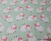 Flannel Fabric - Sheepie - By the yard - 100% Cotton Flannel