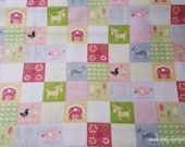 Flannel Fabric - Farm Patch - By the yard - 100% Cotton Flannel