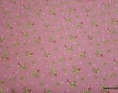 Premium Flannel Fabric - Sweet Pea Small Pink Premium - By the yard - 100% Cotton Flannel