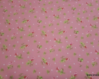 Ava Pink Ditsy Floral By the Yard 100/% Cotton Flannel Flannel Fabric