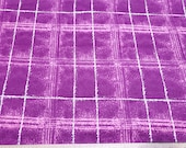 Flannel Fabric - Jade Pink Plaid - By the Yard - 100% Cotton Flannel