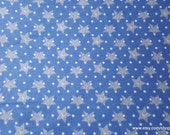 Flannel Fabric - Striped Stars on Blue - By the yard - 100% Cotton Flannel