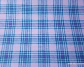 Flannel Fabric - Hadley Plaid Lilac - By the yard - 100% Cotton Flannel