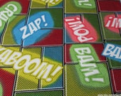 Flannel Fabric - Light Up Words - By the yard - 100% Cotton Flannel