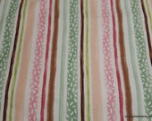 Flannel Fabric - Spring Sweet Stripes - By the yard - 100% Cotton Flannel