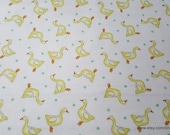 Flannel Fabric - Tossed Ducks - By the yard - 100% Cotton Flannel