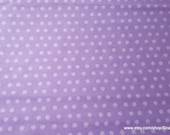 Flannel Fabric - Cloudburst Dot Purple - By the yard - 100% Cotton Flannel
