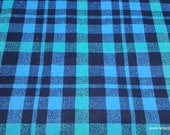 Flannel Fabric - Alex Plaid Blue - By the Yard - 100% Cotton Flannel