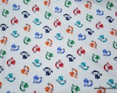 Flannel Fabric - All Over Monkey - By the yard - 100% Cotton Flannel
