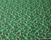 Flannel Fabric - 16 Bit Green - By the yard - 100% Cotton Flannel
