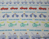 Flannel Fabric - Search and Rescue - By the Yard - 100% Cotton Flannel