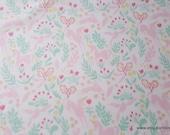 Flannel Fabric - Magic Folk Unicorns on White Premium - By the yard - 100% Premium Cotton Flannel