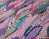 Flannel Fabric - Feathers  - By the yard - 100% Cotton Flannel