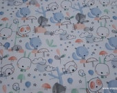 Flannel Fabric - Sketched Forest Friends - By the yard - 100% Cotton Flannel