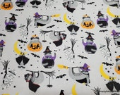 Flannel Fabric - Halloween Sloth  - By the Yard - 100% Cotton Flannel