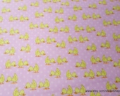 Flannel Fabric - Ducks Pink - By the yard - 100% Cotton Flannel