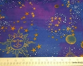 Flannel Fabric - Moon and Stars - By the yard - 100% Cotton Flannel