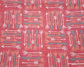 Flannel Fabric - Ava Arrows - By the yard - 100% Cotton Flannel