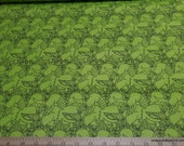 Flannel Fabric - Dinos on Green - By the yard - 100% Cotton Flannel