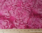 Flannel Fabric - Tile Magenta Tie Dye - By the yard - 100% Cotton Flannel