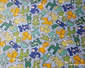 Flannel Fabric - Babe in Woods Blue 2 Ply - By the yard - 100% Cotton Flannel