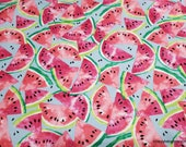Flannel Fabric - Watermelon - By the Yard - 100% Cotton Flannel