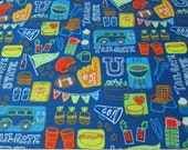 Flannel Fabric - Tailgate State - By the yard - 100% Cotton Flannel