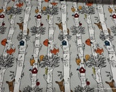 Flannel Fabric - Animals in Birch - By the yard - 100% Cotton Flannel