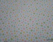 Flannel Fabric - Pastel Pebbles - By the yard - 100% Cotton Flannel
