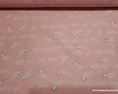 Flannel Fabric - Sketched Pink Stars - By the yard - 100% Cotton Flannel