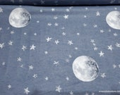 Flannel Fabric - Sweet Dreams Over the Moon - By the yard - 100% Cotton Flannel