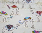 Flannel Fabric - Trendy Camels - By the yard - 100% Cotton Flannel