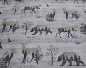 Flannel Fabric - Love the Outdoors - By the yard - 100% Cotton Flannel