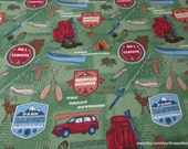 Flannel Fabric - Mountain Explorer - By the Yard - 100% Cotton Flannel