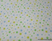 Flannel Fabric - Starlight Multi Green - By the yard - 100% Cotton Flannel
