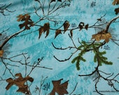 Flannel Fabric - RealTree Seaglass - By the yard - 100% Cotton Flannel