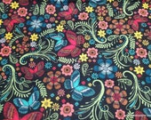 Flannel Fabric - Fall Butterfly - By the yard - 100% Cotton Flannel