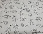 Flannel Fabric - Dino Doodles - By the yard - 100% Cotton Flannel