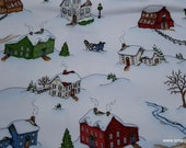 Christmas Premium Flannel Fabric - Christmas Joys Winter Scene Premium  - By the yard - 100% Cotton Flannel