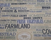 Flannel Fabric - Country Farm Home - By the yard - 100% Cotton Flannel